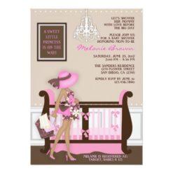 Chic Modern Mom Contemporary Baby Shower Invitation Card