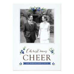 Christmas Cheer Juniper Berries Holiday Photo Card Invitation Card