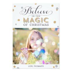 Christmas Magic Holiday Photo Cards - White Invitation Card