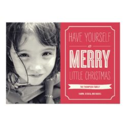 Christmas Wishes Holiday Photo Cards Invitation Card