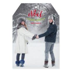 Classic Noel Christmas Photo Cards Invitation Card