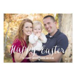 Classic Script Easter Photo Cards Editable Color Invitation Card