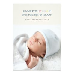 Colorful First Father'S Day Card - Navy Invitation Card