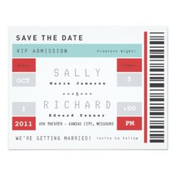 Concert Ticket Save The Date Paper Invitation Card