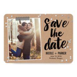 Confetti Save The Date Card Invitation Card
