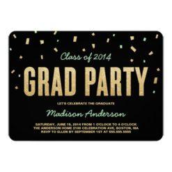 Confetti Toss | Graduation Party Invitation Card