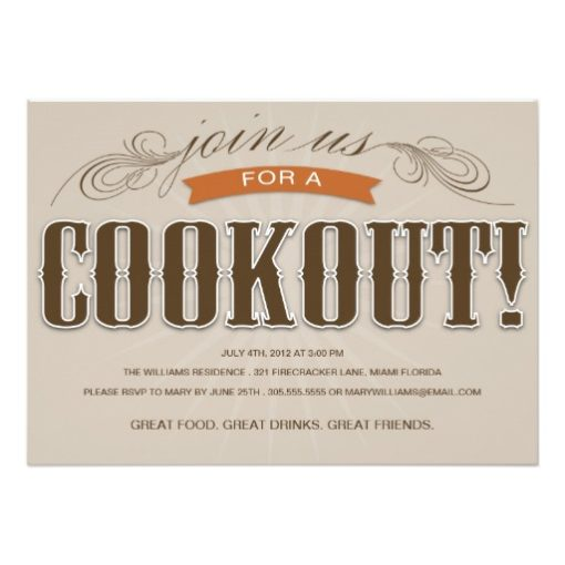 Cookout   Summer Party Invitation Card