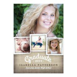 Country Burlap Graduation 2014 Invitation Card