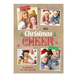 Crafty Christmas Holiday Photo Card Invitation Card