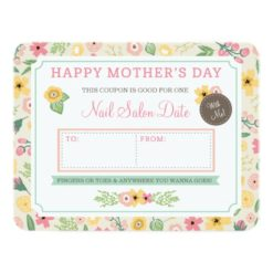 Custom Mother'S Day Gift Coupon By Origami Prints Paper Invitation Card
