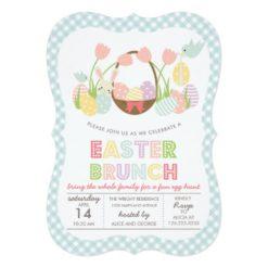 Cute Easter Brunch Egg Hunting Invitation Card