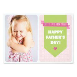 Cute Pink Polka Dots   Father'S Day Flat Card Invitation Card