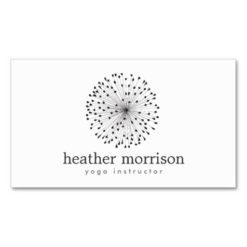 Dandelion Starburst Logo On White Double-Sided Standard Business Cards (Pack Of 100)