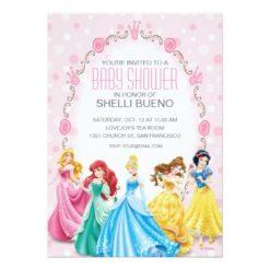 Disney Princess It'S A Girl Baby Shower Invitation Card