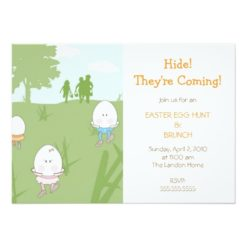 Easter Egg Hunt Invitation Card
