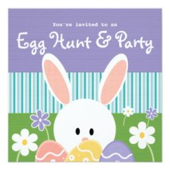 Easter Egg Hunt Invitations Square Invitation Card
