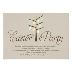 Easter Tree Easter Party Invitation Card