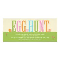 Egg Hunt Easter Party Invitation Card