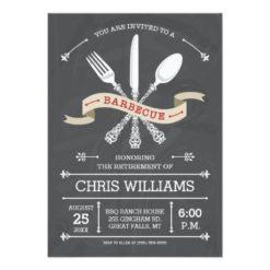 Elegant Barbecue Invitation - Chalkboard Invitation Card