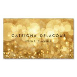 Elegant Gold Glitter Bokeh Business Card