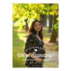 Elegant Simplicity Pregnancy Announcement Invitation Card
