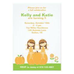 Fall Fairy Princess Invitation Card