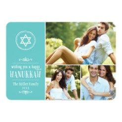 Family Photo Collage Hanukkah Card Invitation Card