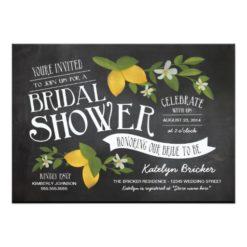 Farm To Table Chalkboard Bridal Shower Invitation Card