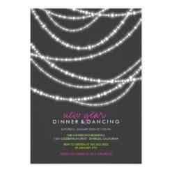 Fatfatin New Year Sparkles Dinner Party Invitation Card
