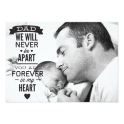 Father'S Day Flat Photo Card - Vintage Typography Invitation Card
