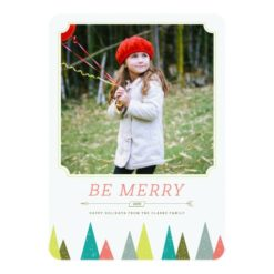 Festive Forest Holiday Photo Cards Invitation Card