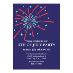 Fireworks 4Th Of July Party Invitation Card