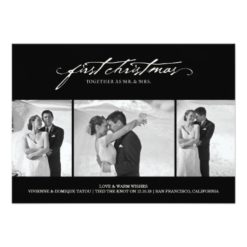 First Christmas As Mr. & Mrs. Holiday Photo Card Invitation Card