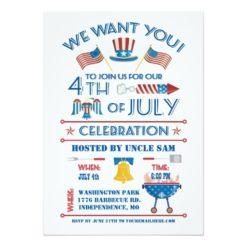 Fourth Of July Celebration Invitation Card
