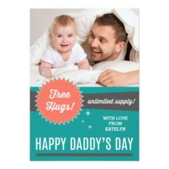 Free Hugs Father'S Day Flat Card Invitation Card