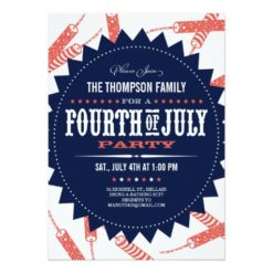 Freedom Fireworks Fourth Of July Party Invitation Card