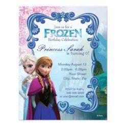 Frozen Birthday Invitation Card