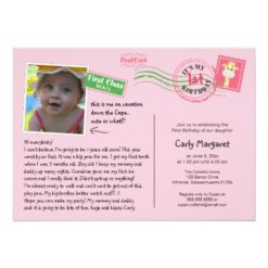 Fun Postcard Birthday Party Invitation Card