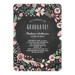 Flower Garden | Graduation Party Invitation Card