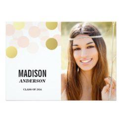 Glamour Faux Foil | Graduation Party Invitation Card
