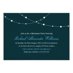 Glimmering Lights Retirement Party Invitation Card