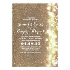 Glitter String Lights Glamours Wedding Invitation Card