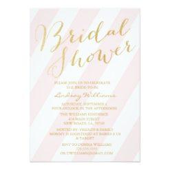 Gold Glitter Bridal Shower Invitation Card