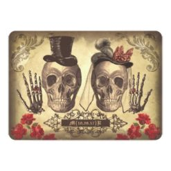 Gothic Skull Couple Day Of The Dead Wedding Invitation Card