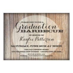 Graduation Country Wood Bbq Grad Party Invitation Card
