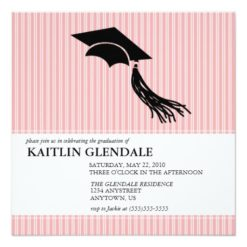 Graduation Party Invitation With Cap And Tassel Square Invitation Card