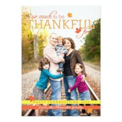 Grateful Leaves Thanksgiving Photo Card Invitation Card