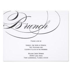 Elegant Script Brunch Invitation - Black Invitation Card
