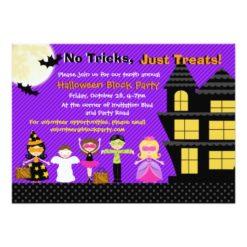 Halloween Kids Halloween Costume Party Invitation Card