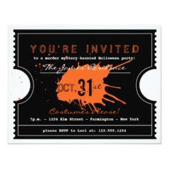 Haunted Halloween Ticket Party Invitation Card